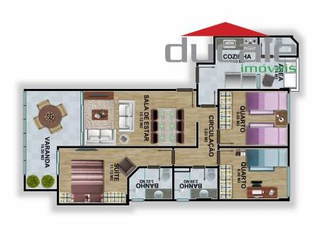 Apartamento Águas de Camburi 2 quartos + 1 à venda, Jardim Camburi, Vitória ES. - AP0032
