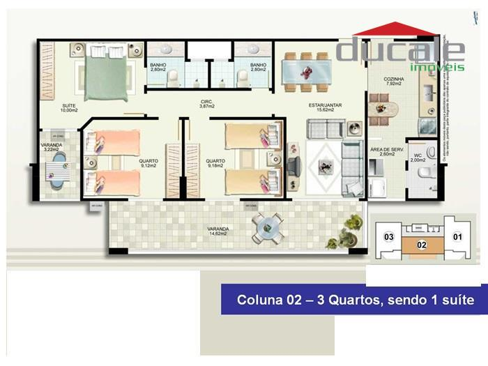 Cobertura  residencial à venda, Jardim Camburi, Vitória. - CO0001