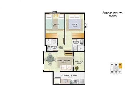 Apartamento no Ed. Raquel Matiello em Jardim Camburi, Vitória - 4481654