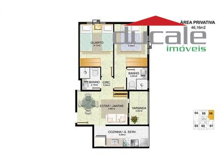 Raquel Matiello Apartamento 2quartos residencial à venda, Jardim Camburi, Vitória ES. - AP0049