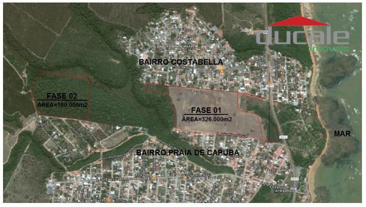 Área 169.000m2 com 105.000 m2 de área aproveitável PRAIA DE CAPUBA Serra ES - AR0003