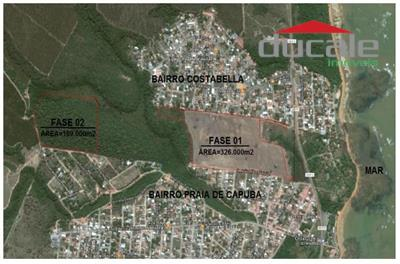 Área 169.000m2 com 105.000 m2 de área aproveitável PRAIA DE CAPUBA Serra ES